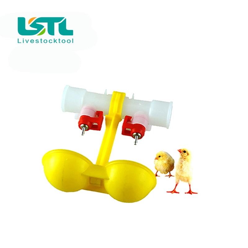 10 Pcs Unggas Peminum Puting Ayam Gantung Ganda Cangkir Otomatis - Produk hewan peliharaan - Foto 2