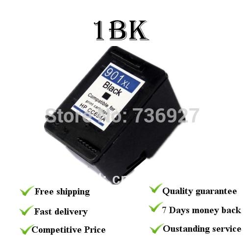 Remanufacured tintenpatronen für hp901xlbk + c cc653 ac cc656ac für hp officejet...