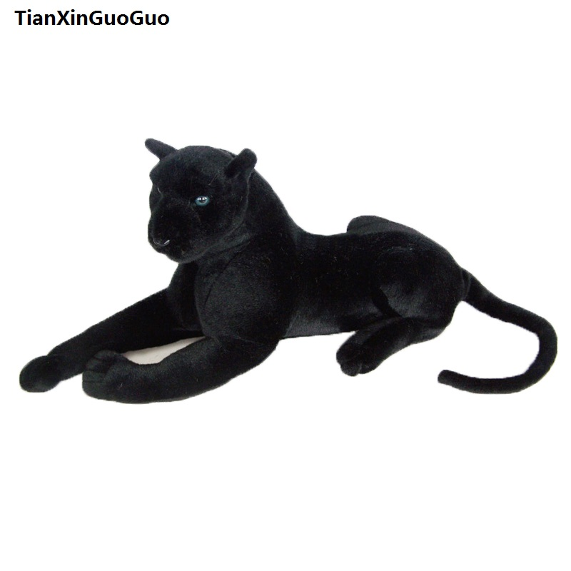 about 40cm simulation panther plush toy black panther soft doll birthday gift s0676about 40cm simulation panther plush toy black panther soft doll birthday gift s0676