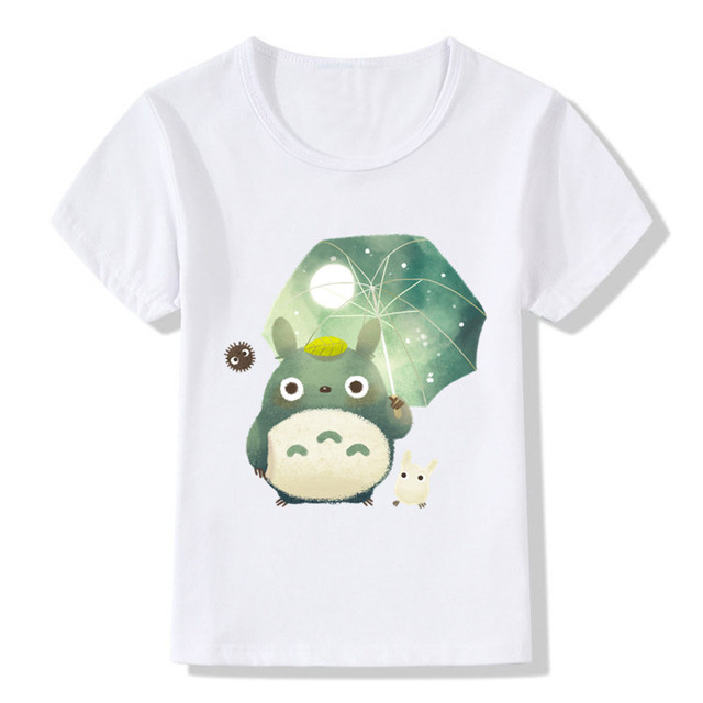 2018 Children Anime My Neighbor Totoro Print Funny T-Shirts Kids Summer Top  Girls Boys