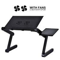 Новый регулируемый стол из алюминиевого сплава для ноутбука, портативный складной компьютерный стол, настольная подставка для ноутбука, ко...