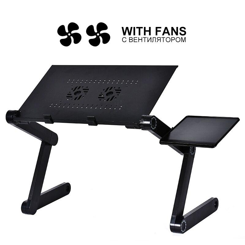Neue Aluminium Legierung Einstellbar Laptop Tisch Tragbare Klapp Computer Schreibtisch Notebook Desktop Stehen Computer Tisch Für Sofa Bett