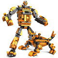 New arrival Cool running robot Combo Deformation Super Robot Building Blocks Clone Troopers  playmobil Toy scale models