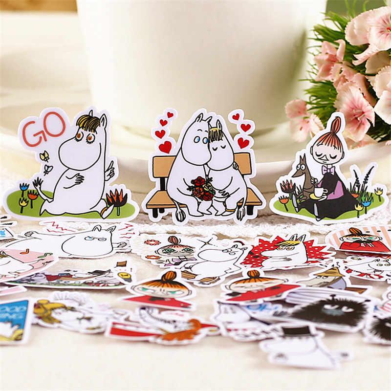 40 Uds. Niñas y pegatina de animales Anime divertido para chico DIY maleta para portátil monopatín Moto teléfono coche juguete Scrapbooking pegatinas