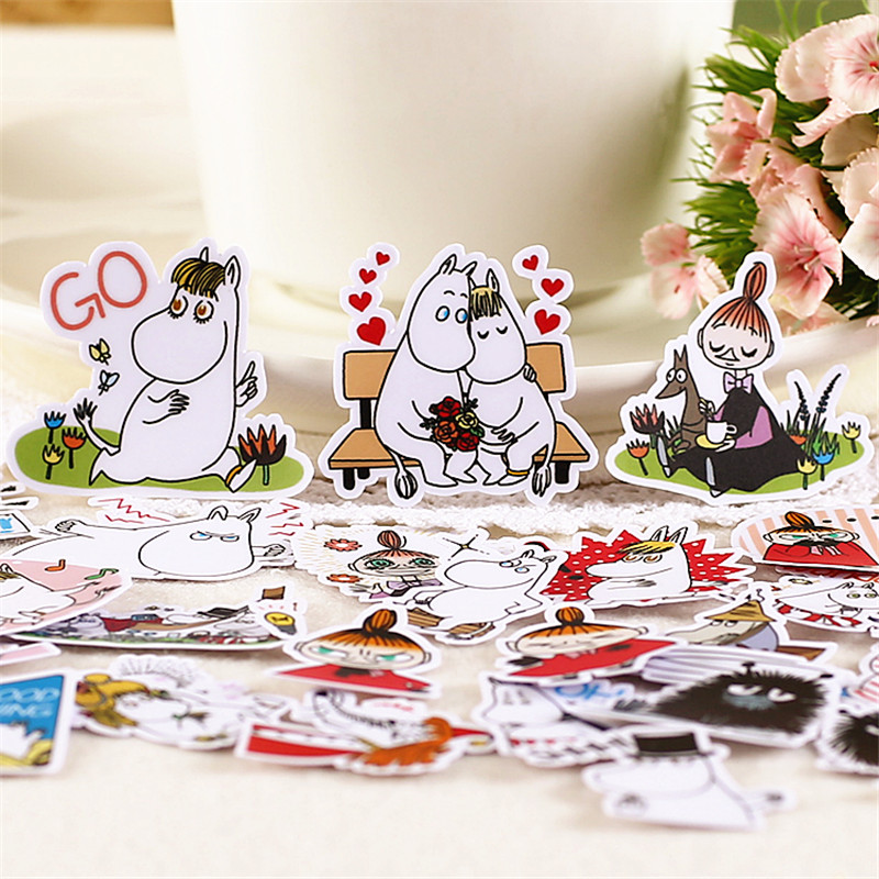 40 pcs Girls and pets Sticker Anime Funny for Kid DIY Laptop Suitcase Skateboard Moto font