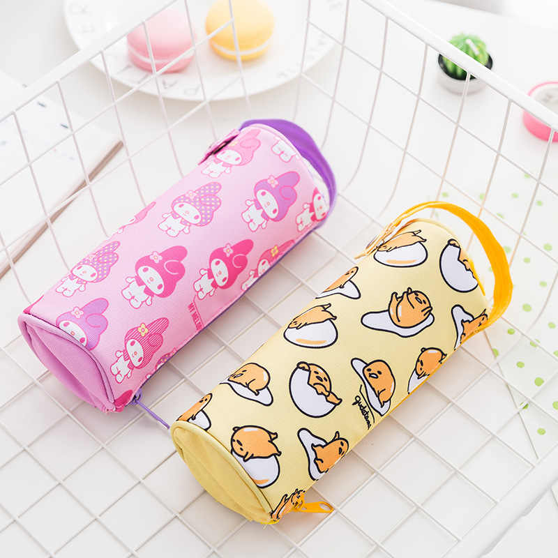 Kawaii Melody Twin Star Sumikko Gurashi Gudetama Canvas Big Capacity Pencil Pen Bag
