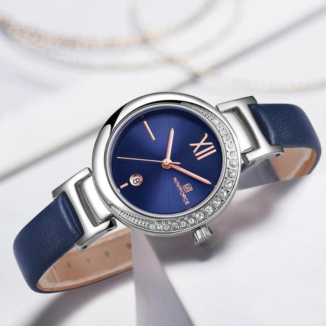 جديد NAVIFORCE نساء موضة ساعة كوارتز أنثى عادية مقاوم للماء ساعة اليد العلامة التجارية الفاخرة السيدات الساعات reloj mujer 2019