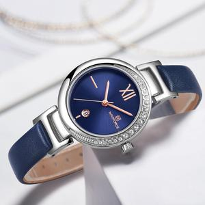 Image 1 - New NAVIFORCE Women Fashion Quartz Watch Female Casual Waterproof Clock Wristwatch Luxury Brand Ladies Watches reloj mujer 2019