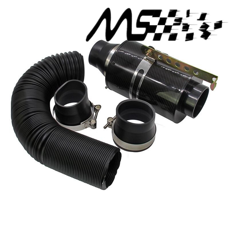 Universal Racing Carbon Fiber Cold Feed Induction Kit Carbon Fiber Air Intake Kit Air Filter Box without Fan