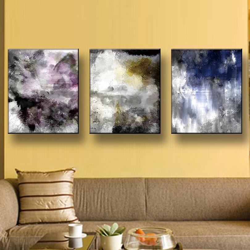 Aliexpress.com : Buy 3 Pcs/Set Modern Abstract Oil Painting On ...