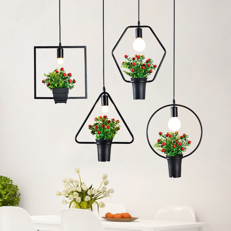 New Potted Plant Decorative Pendant Light Nordic Creative Hanging Lamp DIY  Cafe Shop Bar Kitchen Lighting Fixture Fitting Lamp oti indoor decorative lighting nordic creative individuality pendant light for restaurant hotel bar pendant lamp
