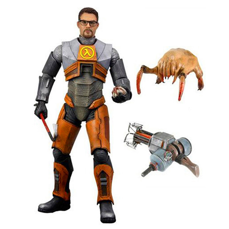 NECA Half Life 2 Dr. Gordon Freeman PVC Action Figure Collectible Model Toy Doll 7 18CM neca a nightmare on elm street 3 dream warriors pvc action figure collectible model toy 7 18cm kt3424
