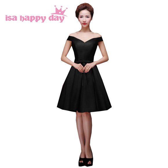 Woman Plus Size Modest Bridesmaid Black Dress Women Bridesmaids