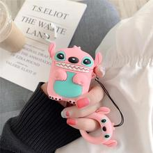 Cute Cartoon Silicone Case for Airpods Protective Cover Airpod Blue Pink Storage Box AirPods Stitch
