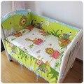 Promoción! 6 unids con relleno cuna sábana de cuna juegos de cama de bebé juego de cama ( bumpers + hojas + almohada cubre )