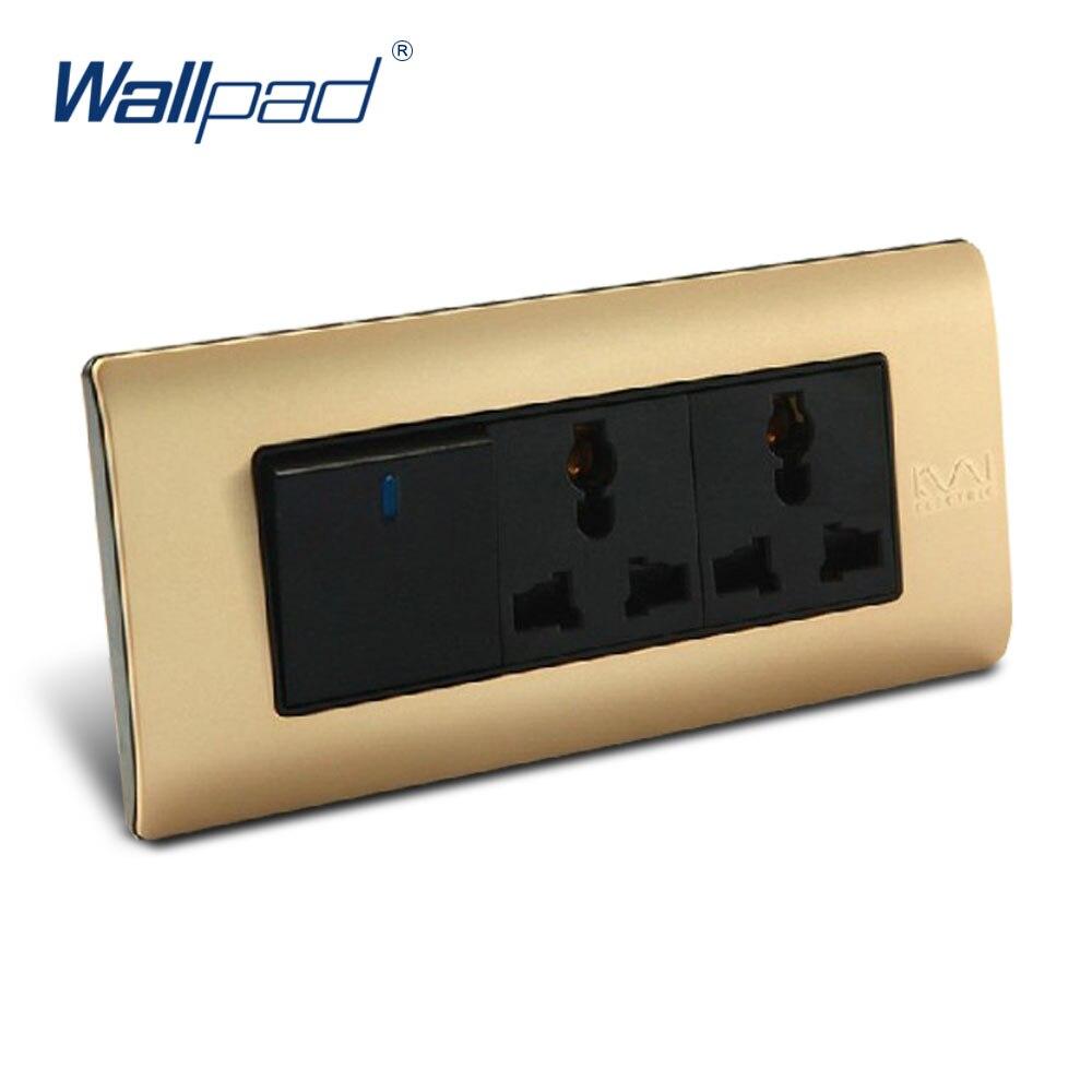 1 Gang 6 Pin Multifunction Socket Wallpad Luxury Wall Switch Panel C5-Series 154*72mm 10A 110~250V  free shipping wallpad luxury wall switch panel 6 gang 2 way switch plug socket 197 72mm 10a 110 250v