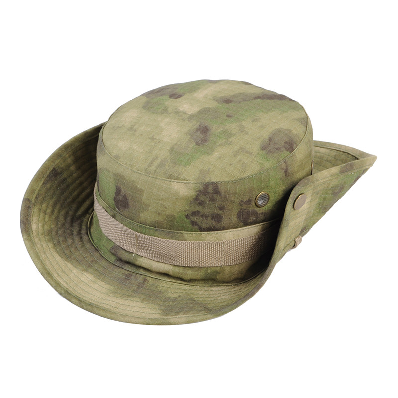 c3a6fd008d19d Airsoft Tactical Bucket Hat Men Camo Bucket Cap Outdoor Sports Wide Brim  Boonie Hat Military Camping Hiking Fishing Caps Mens-in Fishing Caps from  Sports ...
