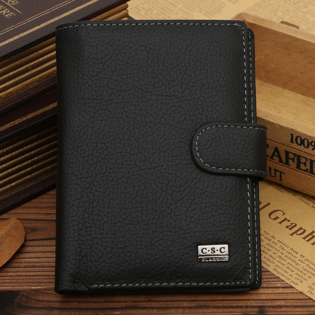 2016 Passport Holder New genuine leather wallet cowhide genuine leather wallet thickening vintage men wallet men's purse