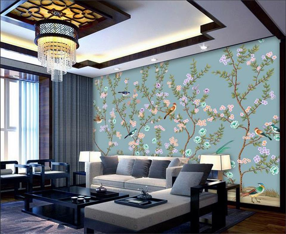 Custom 3d photo wallpaper kids room mural beautiful for Chinese mural wallpaper