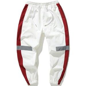 Image 2 - גברים מכנסי טרנינג Loose גברים רצים מכנסיים היפ הופ ספורט מסלול הרמון מכנסיים גברים Streetwear מכנסיים 4XL 5XL