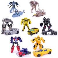 8cm Transformation 7pcs Lot Kids Classic Robot Cars Toys For Children Action Toy Figures