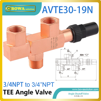 three-way valve allows a pressure relief device to be replaced in-situ, without removing the system refrigerant charge.