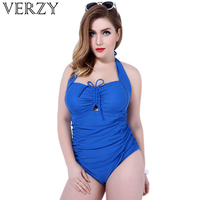 2018 Summer women apparel Large size blue swimwear female costume backless beach monokini Adjustable Bust One Piece Swimsuits