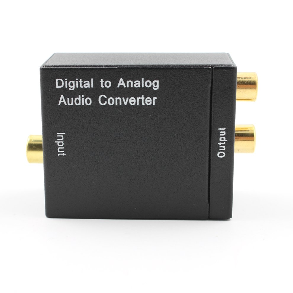 5pcs Audio Converter Adapter Optical Coaxial R/L Digital Optical Coax to Analog RCA Audio Converter with Fiber Cable US Plug
