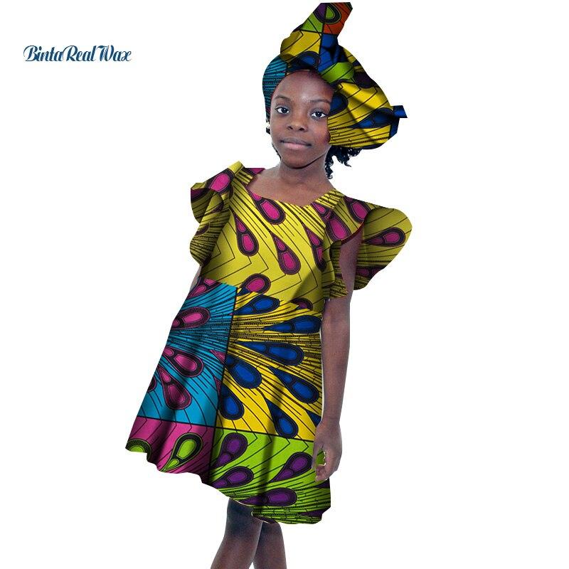 Платья трапециевидной формы с галстуком бабочкой для маленьких девочек; Bazin Riche; детские лоскутные платья с принтом Анкары; одежда в африкан