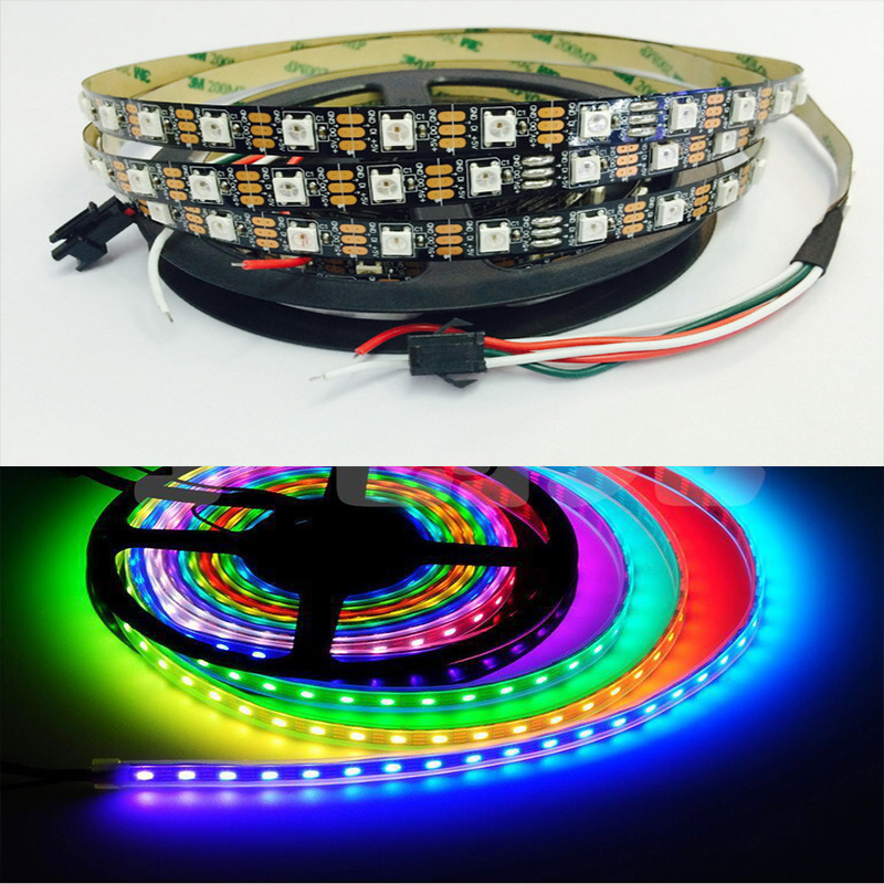 WS2812B ws2812 30/60/144 pixels 5050 rgb individually addressable led strip light full c ...