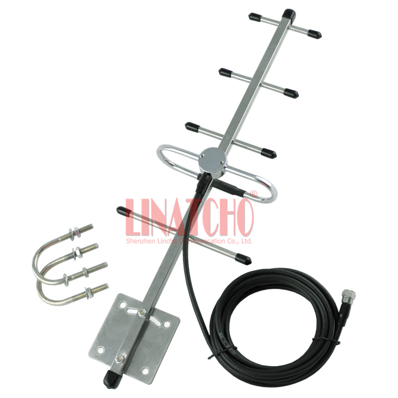1.2ghz stainless steel 5 elements yagi 3 meters RG58U cable cctv - Communication Equipment