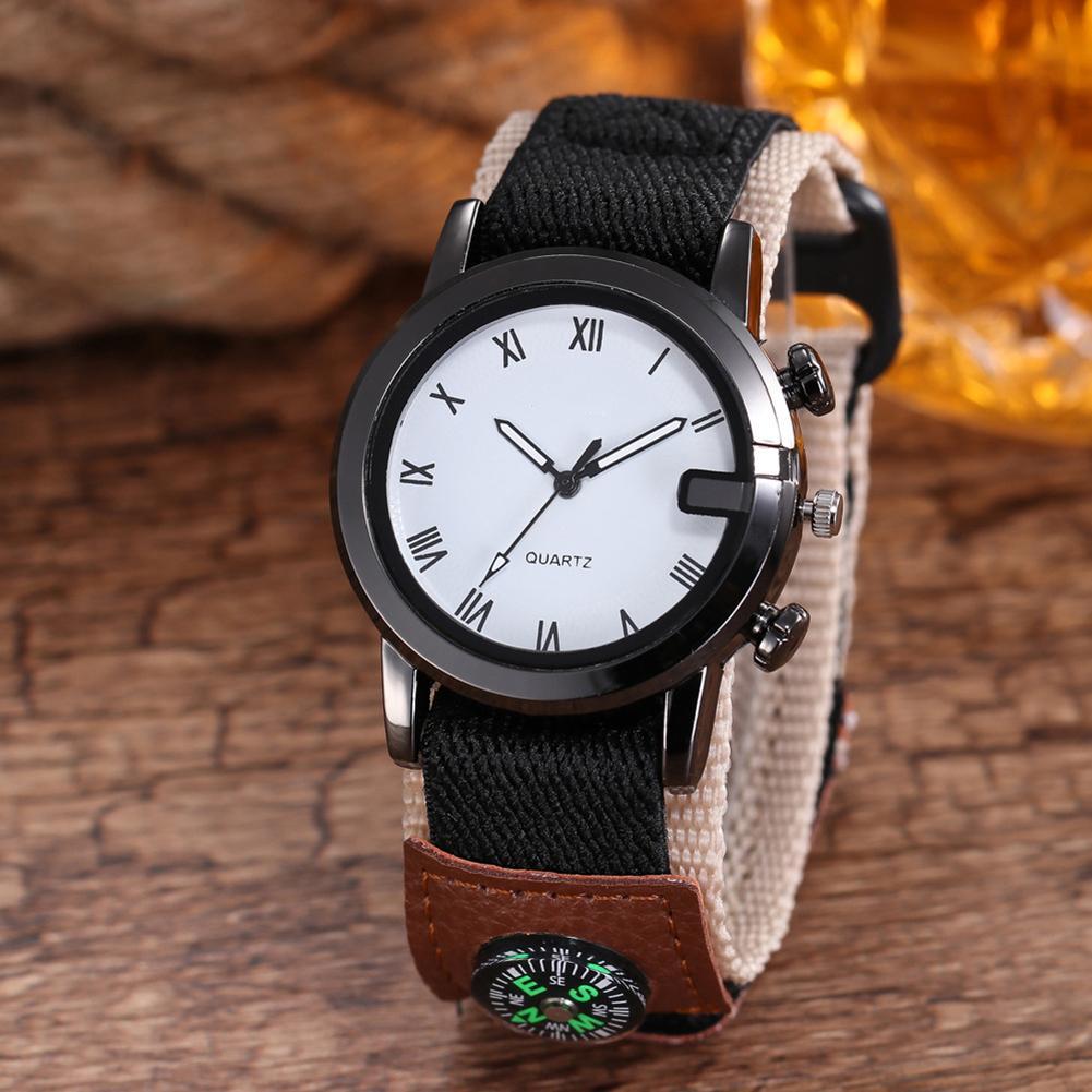 Fashion Outdoor Sport Roman Numerals Marker Men Quartz Analog Wrist Watch Men Gift