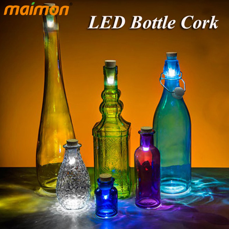 Romantic USB Rechargeable Bottle Cork Night Light Kitchen