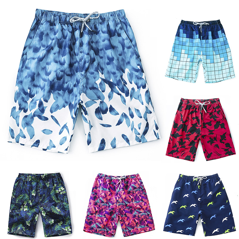 CS6501 2019  Sports Shorts Men Breathable Swim Shorts Swimwear Trunks Beach Board Shorts Swimming Short Pants(China)