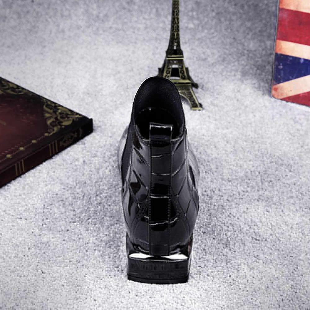 Yeni Tasarım Ayakkabı Kadın Botları Moda Kare Ayak Kalın Topuk Çizmeler Üzerinde Kayma Rahat Patent Deri Martinas Ayakkabı Kadın Seksi botas