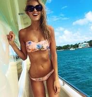 Melphieer 2017 Sexy Bikinis Women Swimsuit Push Up Swimwear Female Brazilian Bikini Set Bandeau Summer Beach