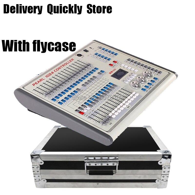 Flycase посылка, профессиональный мини жемчужный 1024 DMX контроллер, сценический светильник DMX 512 Master, хорошее использование для сценического све