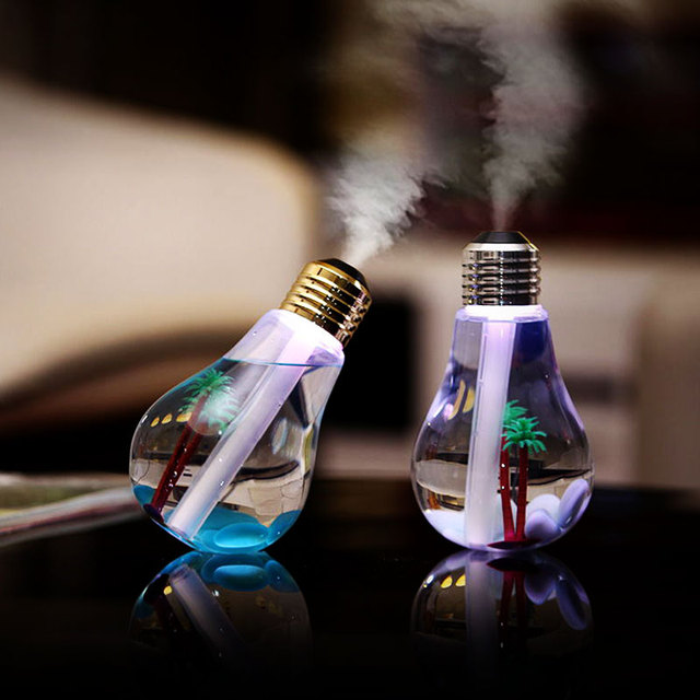 Ultrasonic Bulb Shaped Air Humidifier for Office Desk