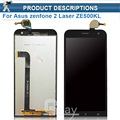 "100% Original LCD Pantalla y Pantalla Táctil Digitalizador Asamblea Para Asus zenfone 2 Láser 5.0 ""ZE500KL Me500kl Z00ED"