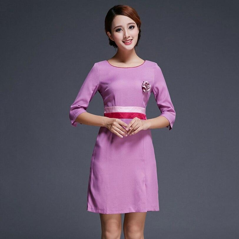 Beautician Clothing Dress Slim Beauty Salon Overalls