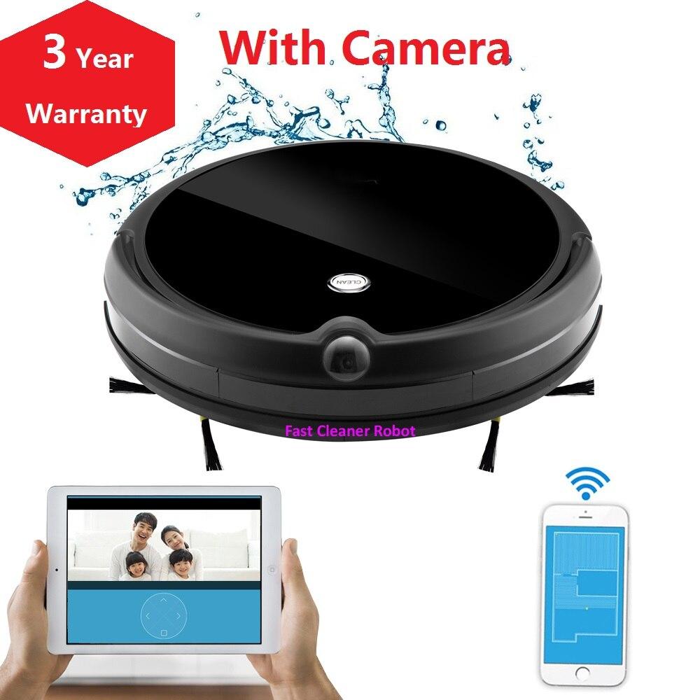 2019 новейший влажный и сухой wifi приложение робот пылесос камера монитор, карта навигации, умная память, видео звонок, 350 мл резервуар для воды