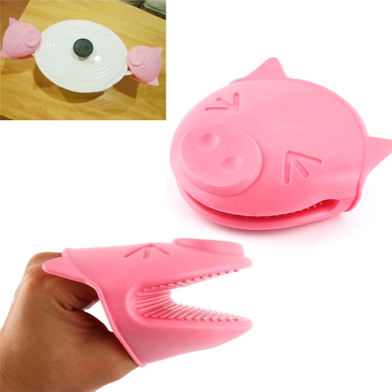 pig kitchen kohler faucets home depot hot sale cartoon cooking scald proof non slip insulated gloves thickened silicone oven mitts microwave gloves35