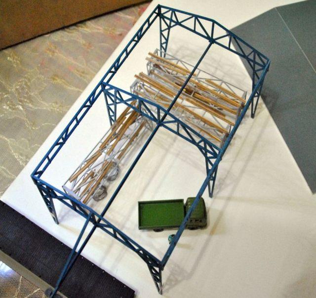 Tienda Online 1/87 modelo de tren Ho escala almacén marco DIY ...