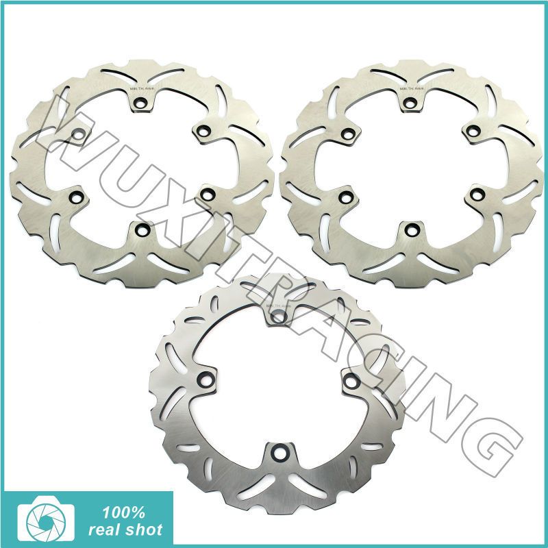 296mm+240mm 03 04 05 06 07 Full Set Front Rear Brake Discs Rotors fit for Honda CBF600 CBF 600 N 2003 2004 2005 2006 2007 2001 2002 2003 2004 2005 2007 full set motorcycle new front rear brake discs rotors for honda cbr600f cbr 600 f supersport f4