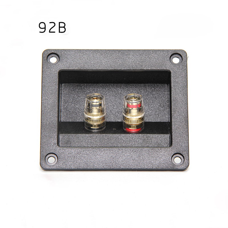 Audio Cable Connector Panel Speaker Junction Box Two Terminal Copper Speaker Line Wiring Board Plastic DIY Speaker Accessories waterproof black ip68 plastic cable wire connector gland electrical 4 cable junction box with terminal