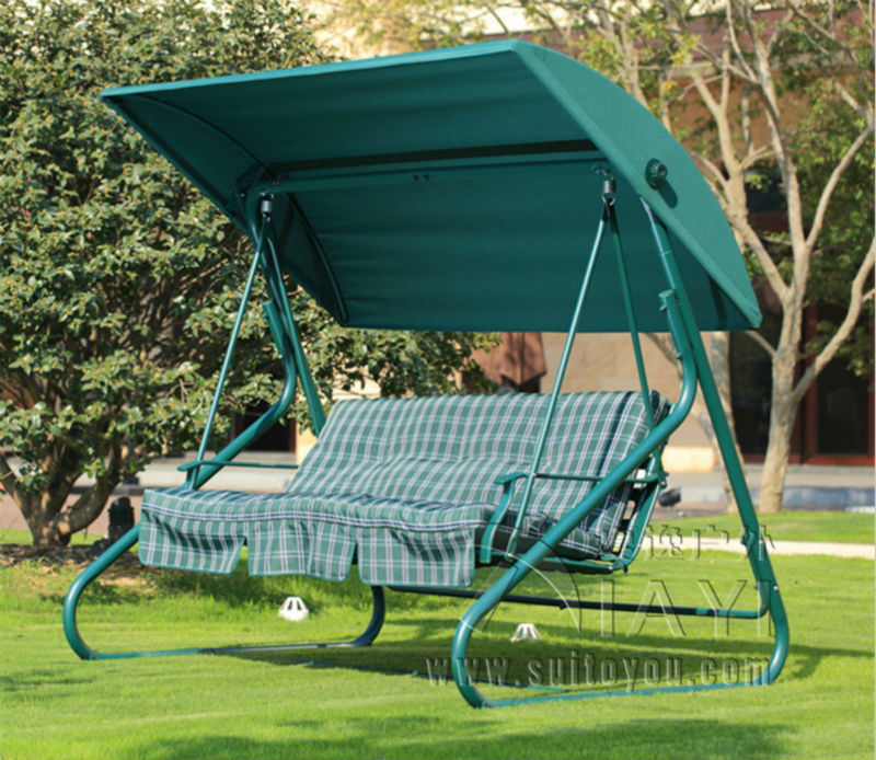 Beautiful 2 Person Leisure Garden Swing Chair Hammock Outdoor Cover Bench Patio Furniture  Seat With Canopy And