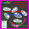 100pcs Air Chamber Silicone Nose Pads Screw-in Push-in For Eyeglasses Eyewear Glasses Accessories 14mm SIA14