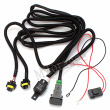 MZORANGE H11 Fog Light Wiring Harness Sockets FOR Ford FOR Honda FOR Nissan Wire+LED Indicators Switch+Automotive Relay цена