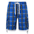 2016 Summer New Plaid Quick Dry Bermuda Shorts Fine Quality Unique Design Swimwears Loose Soft Shorts Men Size S,M,L,XL