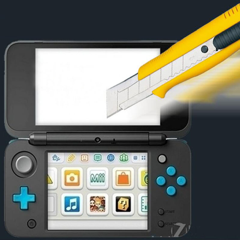 Top <font><b>Tempered</b></font> <font><b>Glass</b></font> LCD Screen Protector+Bottom PET Clear Full Cover <font><b>Protective</b></font> <font><b>Film</b></font> Guard <font><b>for</b></font> Nintendo <font><b>New</b></font> 2DS XL/<font><b>LL</b></font> 2DSXL/2DSLL
